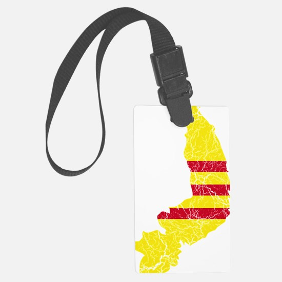 South Vietnam Flag and Map Crack Luggage Tag