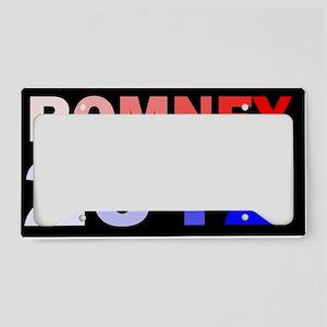MITT ROMNEY 2012 COLORDBUTTON License Plate Holder