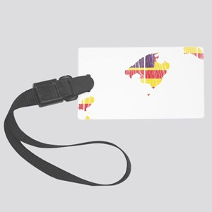 Balearic Islands Flag and Map Wo Large Luggage Tag