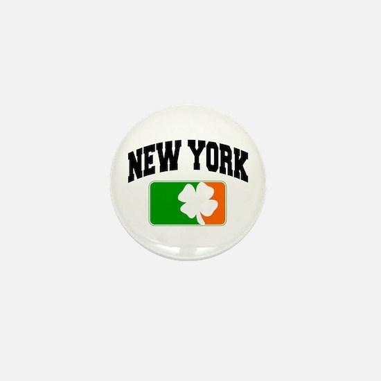 New York Shamrock Mini Button