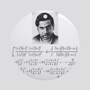 ramanujan and his equations Round Ornament