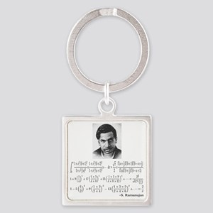 ramanujan and his equations Square Keychain