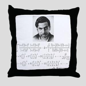 ramanujan and his equations Throw Pillow