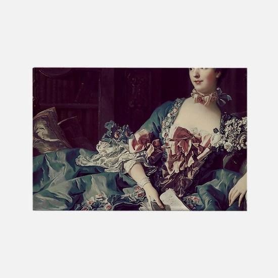 Madame de Pompadour Rectangle Magnet