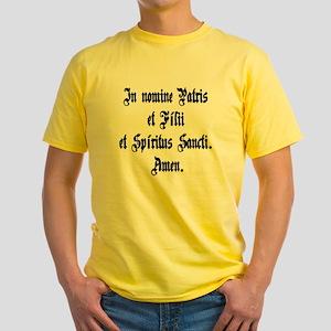 walllclock_large Yellow T-Shirt