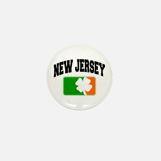 New Jersey Shamrock Mini Button