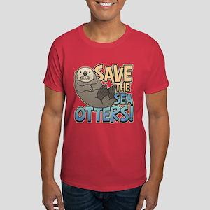 Save Sea Otters Dark T-Shirt