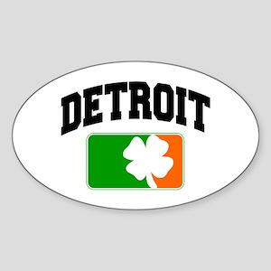 Detroit Shamrock Oval Sticker