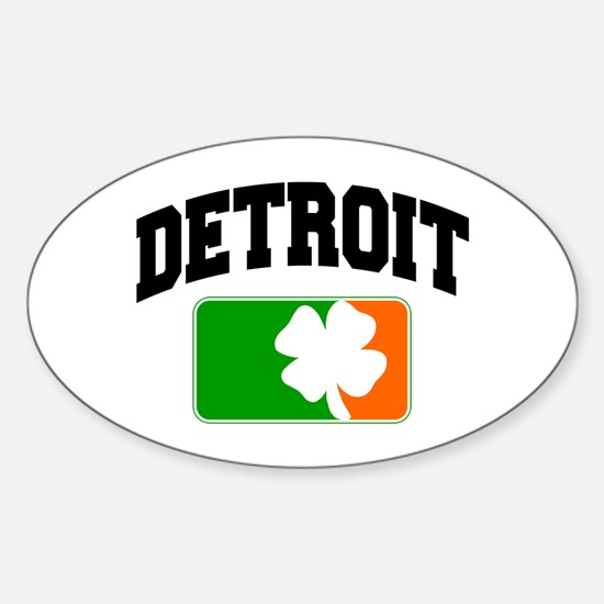 Detroit Shamrock Oval Decal
