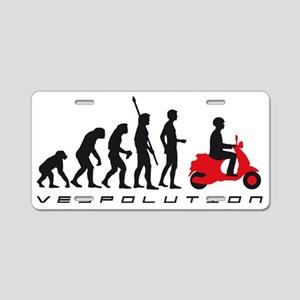 evolution scooter Aluminum License Plate