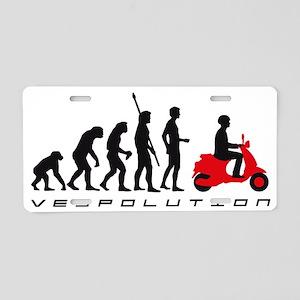 evolution scooter Aluminum License Plate