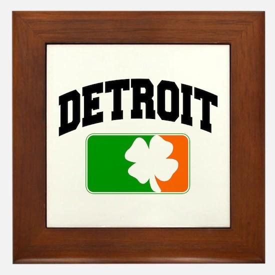 Detroit Shamrock Framed Tile