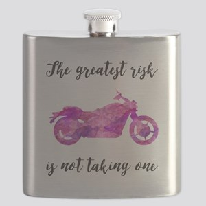 Greatest Risk Script Pink-Red Watercolor Motorcycl