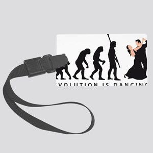 evolution dancing couple Large Luggage Tag