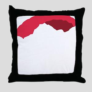 fallschirm 3c black Throw Pillow