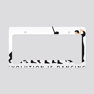 evolution dancing couple License Plate Holder