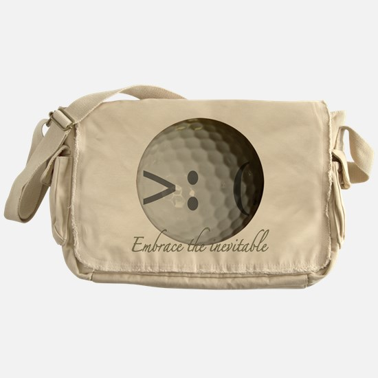 Angry Golf ball Messenger Bag