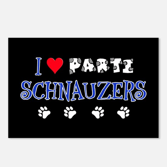 I Love Parti Schnauzers 2.0 Postcards (8pack)
