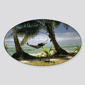 The landscape Sticker (Oval)