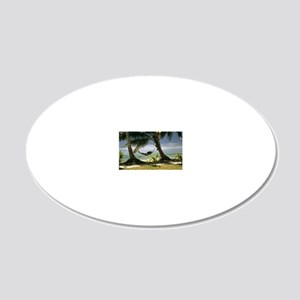 The landscape 20x12 Oval Wall Decal