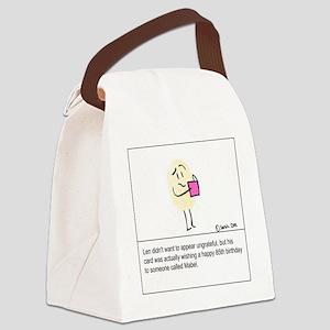 Um...thanks? Canvas Lunch Bag