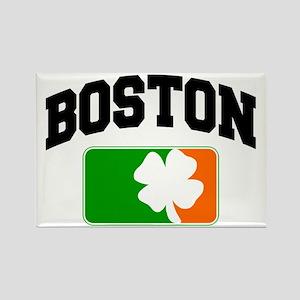 Boston Shamrock Rectangle Magnet