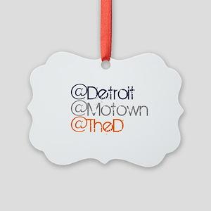 Mention Detroit Picture Ornament