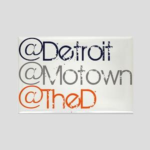 Mention Detroit Rectangle Magnet