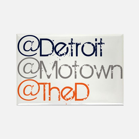 Mention Detroit Rectangle Magnet