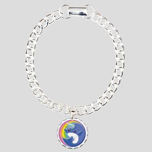 Kawaii Narwhal Charm Bracelet, One Charm