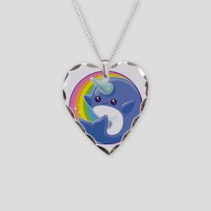 Kawaii Narwhal Necklace Heart Charm