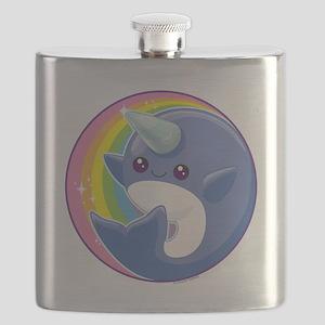 Kawaii Narwhal Flask