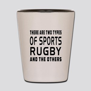 Rugby Designs Shot Glass