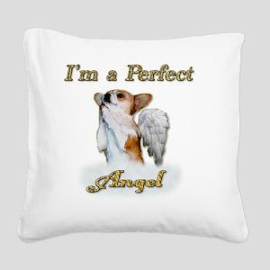Im a Perfect Angel Dott Square Canvas Pillow