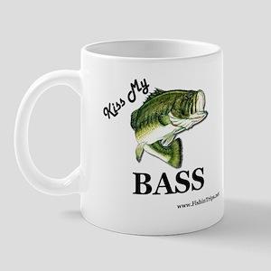 kiss my bass beer cooler Mug
