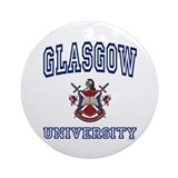 Glasgow university Round Ornaments