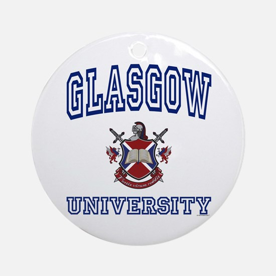 GLASGOW University Ornament (Round)