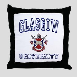 GLASGOW University Throw Pillow