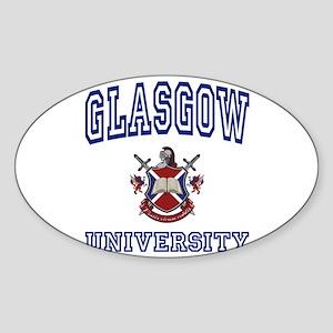 GLASGOW University Oval Sticker