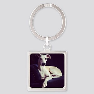 whippet Square Keychain