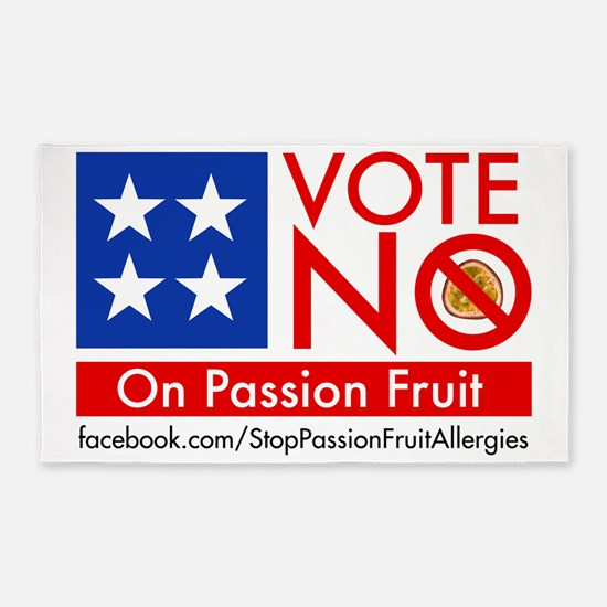 Vote No on Passion Fruit 3'x5' Area Rug