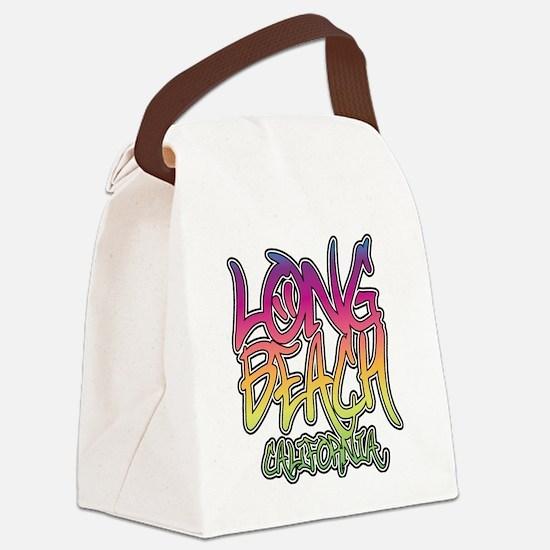 Long Beach Graffiti W Canvas Lunch Bag