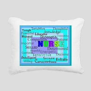 Nurse Blanket Blues Gree Rectangular Canvas Pillow