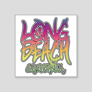 "Long Beach Graffiti W Square Sticker 3"" x 3"""