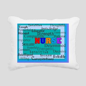 Nurse Blanket blue Rectangular Canvas Pillow