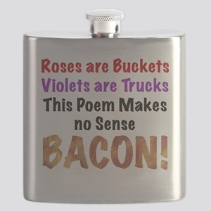 Colorful Bacon Poem Flask