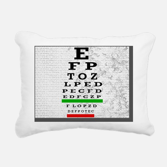 Optomitrist blanket grey Rectangular Canvas Pillow