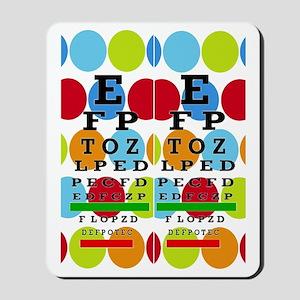 Eye Chart FF 8 Mousepad