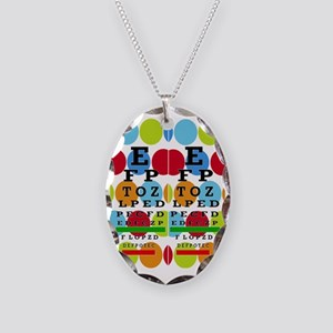 Eye Chart FF 8 Necklace Oval Charm