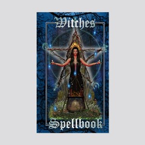 Witches Spellbook (Blue/Water) Sticker (Rectangle)